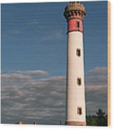 Lighthouse At Ouistreham Wood Print
