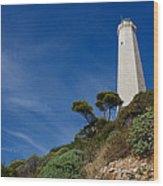 Lighthouse At Saint-jean-cap-ferrat France French Riviera Wood Print