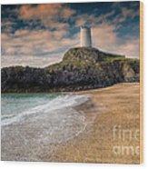 Lighthouse Beach Wood Print