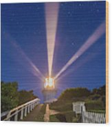 Lighthouse Beams By The Southern Cross Wood Print