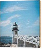 Lighthouse Wood Print by Belinda Dodd