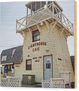 Lighthouse Cafe In North Rustico Wood Print