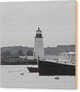 Lighthouse Calming Effect Wood Print