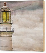 Lighthouse Cape Elizabeth Maine Wood Print