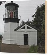 Lighthouse Cape Meares Wood Print