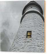 Lighthouse Wood Print by Diane Diederich