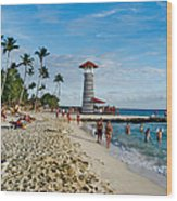 Lighthouse.  Dominican Republic.  Wood Print