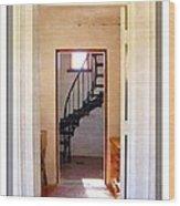 Lighthouse Door Wood Print
