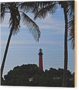 Lighthouse From Afar Wood Print