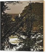 Lighthouse From The Distance Wood Print