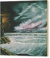Lighthouse Glow Wood Print