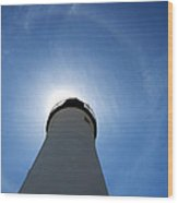 Lighthouse Halo Wood Print