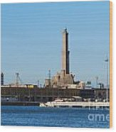 Lighthouse In Genova. Italy Wood Print