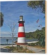 Lighthouse In Mount Dora Wood Print