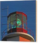 Lighthouse In Nova Scotia Wood Print