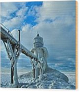 Lighthouse In Saint Joseph Michigan Wood Print