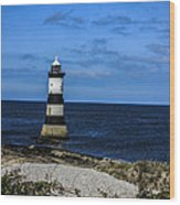 Lighthouse Isle Of Anglessy Wales Wood Print