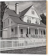Lighthouse Keepers House  Wood Print