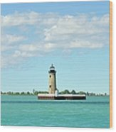 Lighthouse Lake St. Clair Wood Print