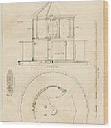 Lighthouse Lantern Drawing Wood Print