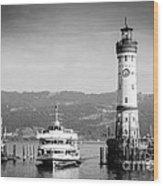Lighthouse Lindau Lake Constance Germany Wood Print