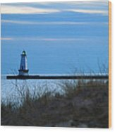 Lighthouse Lit Wood Print