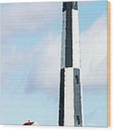 Lighthouse Living - New Cape Henry Lighthouse Wood Print by Gregory Ballos