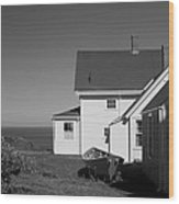 Lighthouse Monhegan Wood Print