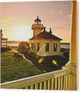 Lighthouse Mukilteo Wood Print