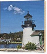 Lighthouse Mystic Seaport Wood Print