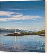Lighthouse Near Oban In Scotland Wood Print
