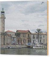Lighthouse Of Le Grau Du Roi In France Wood Print