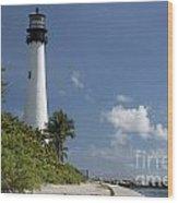 Lighthouse On A Sunny Day Wood Print