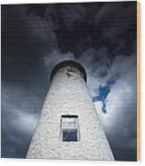 Lighthouse On Boblo Island Wood Print