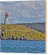 Lighthouse On Brier Island In Digby Neck-ns Wood Print
