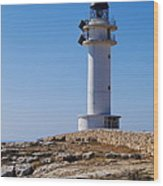 Lighthouse On Cap De Barbaria On Formentera Wood Print