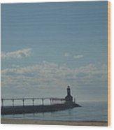 Lighthouse On Clear Day. Wood Print