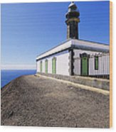 Lighthouse On Hierro Wood Print