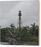 Lighthouse On Sanibel Island Wood Print