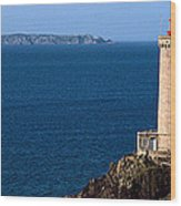 Lighthouse On The Coast, Phare Du Petit Wood Print
