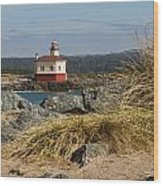 Lighthouse Over The Dunes Wood Print