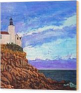 Lighthouse Overlook Wood Print