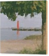 Lighthouse Pastel Wood Print