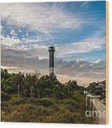 Lighthouse Pathway Wood Print