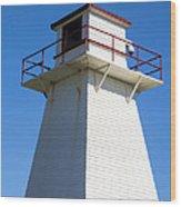 Lighthouse Pei Wood Print by Edward Fielding