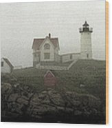 Lighthouse - Photo Watercolor Wood Print