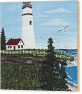 Lighthouse Point Wood Print