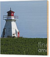 Lighthouse Prince Edward Island Wood Print