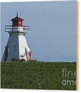 Lighthouse Prince Edward Island Wood Print by Edward Fielding
