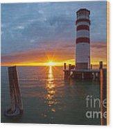 Lighthouse Romance Wood Print